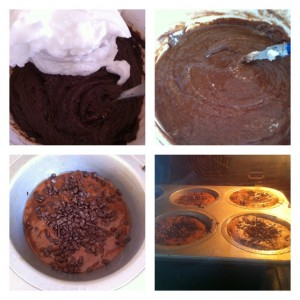 préparation muffin chocolat