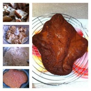 étapes préparation pudding pain dur