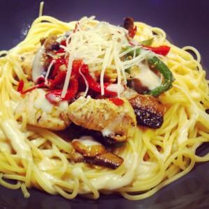 spaghetti poulet