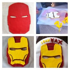 Iron Man pâte à sucre