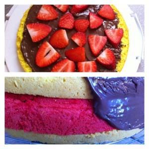 gâteau chocolat fraise