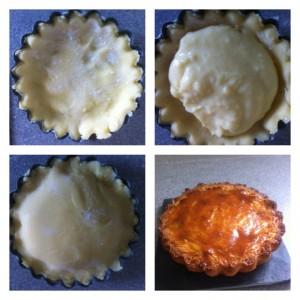 préparation gâteau basque