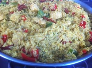 paella poulet chorizo maison