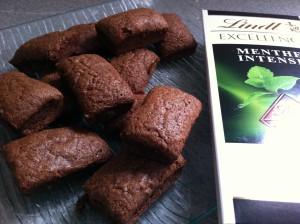 recette financier chocolat menthe