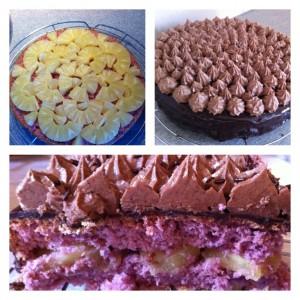 recette gâteau chocolat ananas