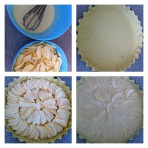 étape recette tarte aux pomme alsacienne