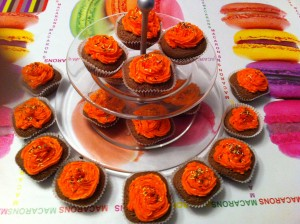 cupcake hallowen orange