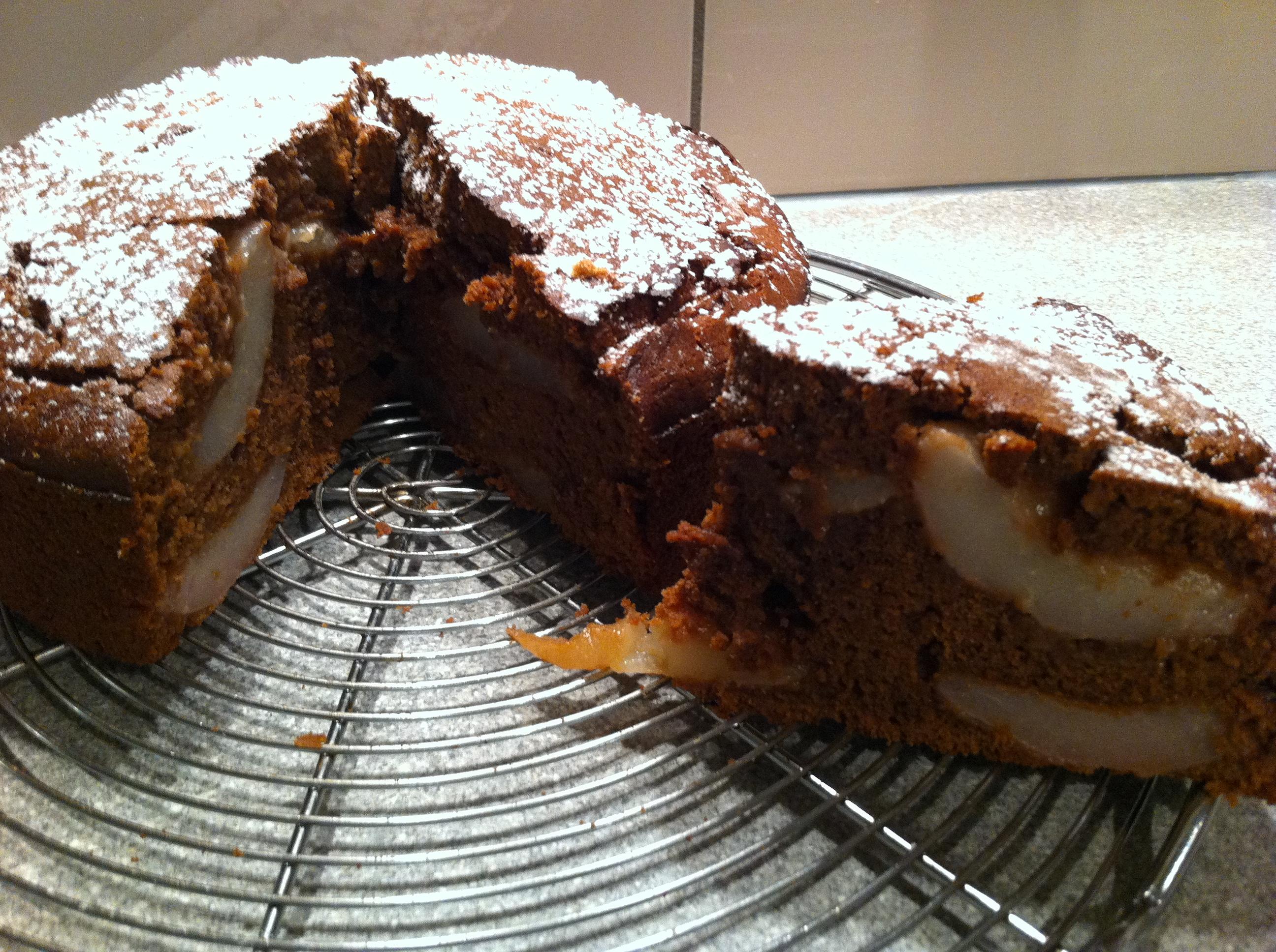 cake chocolat poire chut je cuisine. Black Bedroom Furniture Sets. Home Design Ideas