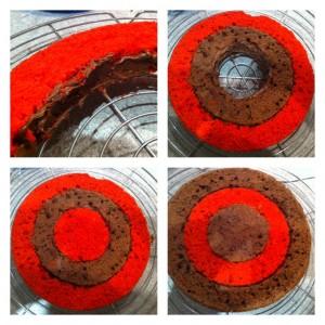 fabrication d'un gâteau damier