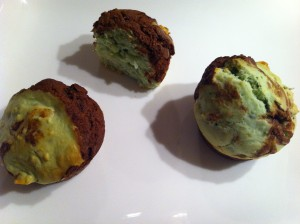 muffin menthe chocolat