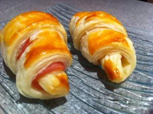 mini croissant jambon fromage