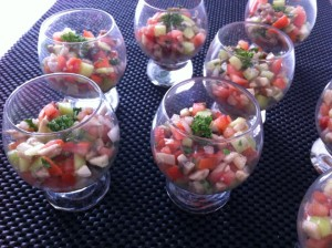 verrine de légumes