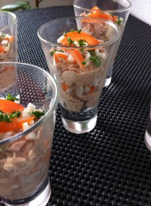 verrine de thon surimi