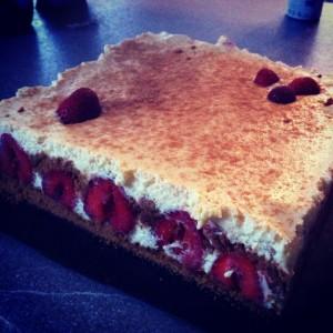 tiramisu speculos fraise
