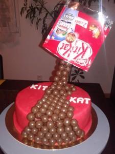 gravity cake kit kat