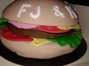 cake burger pâte à sucre