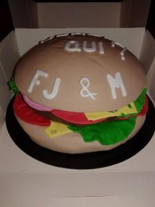 hamburger pâte à sucre