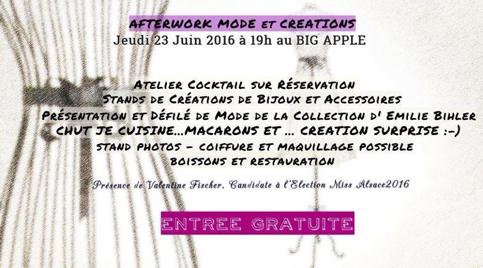 afterwork mode creation starsbourg 2016